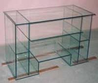 Клеенный компьютерный стол из стекла