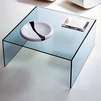 Кофейный стеклянный столик арт.009