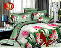 Семейный комплект постельного белья 3D BY1170