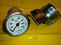 Термометр металлический 350 ℃ / Ф-60 мм. с капилляром 1-метр. PAKKENS производство Турция