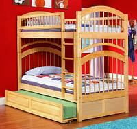 """Двухъярусная кровать из дерева """"Артемон"""" с выдвижным спальным местом"""