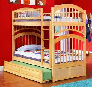 """Двох'ярусне ліжко з дерева """"Артемон"""" з висувним спальним місцем"""
