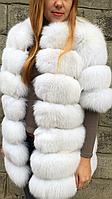 Пальто из меха финского песца альбиноса
