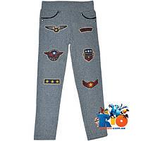 Зимние детские плотные брюки-лосины , для девочек от 4-14 лет