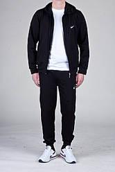 Мужской теплый спортивный костюм NIKE на флисе и молнии