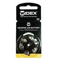 Батарейки для слуховых аппаратов Widex 10