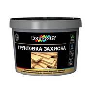 Грунтовка защитная для дерева Kompozit Композит, 10л