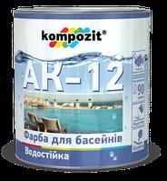 Краска для бассейнов АК-12 Kompozit Композит 2,8кг