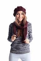 Оригинальный женский комплект берет и шарф