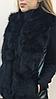 Женский  жилет из меха черной лисы.