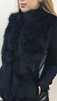Женский  жилет из меха черной лисы., фото 1