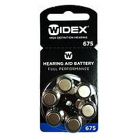 Батарейки для слуховых аппаратов Widex Full Performance Size 675, 6 шт.