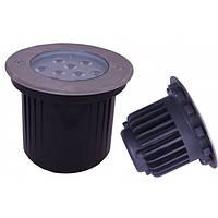 Светодиодный LED грунтовый 9Вт водонепроницаемый