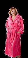 Длинный женский халат, махровый