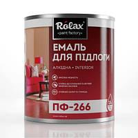 Эмаль алкидная ПФ-266 0,9/2,8 кг Кр.(Ж)/Коричневая (РОЛАКС)