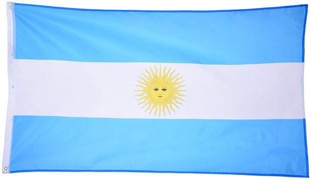 Национальный флаг Аргентины 90х150см