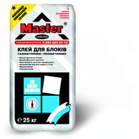 Клей для кладки пено/газобетонных блоков Master CARCASS,25кг