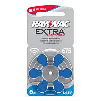 Батарейки для слуховых аппаратов Rayovac Extra Advanced 675, 6 шт.
