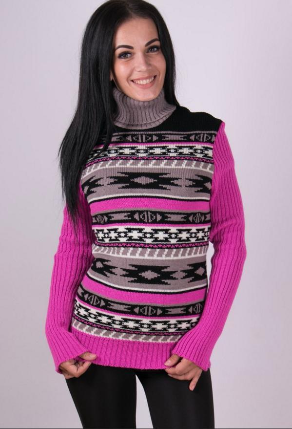 Женские теплые свитера - Мексика - Вишиванки оптом и в розницу -  «ОптИнвест» в 22aeadd8da2b4