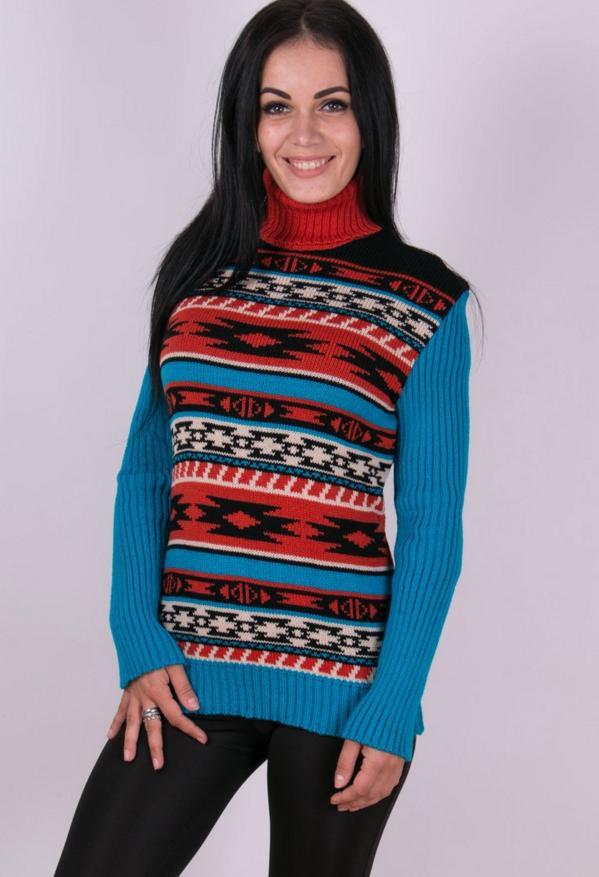 Женские свитера машинная вязка - Мексика