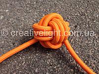 Оранжевый провод в тканевой оплетке (2х0,5)