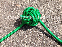 Зеленый провод в тканевой оплетке (2х0,5)