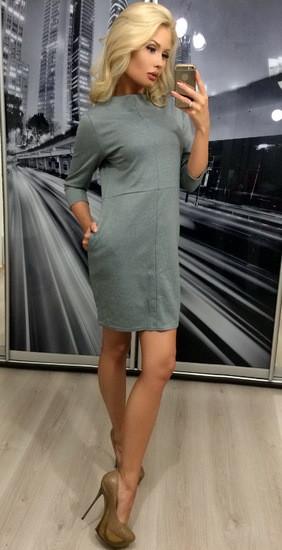 Платье графит и серый