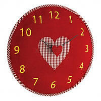 Годинник настінний TFA, d=330x40 мм, червоний