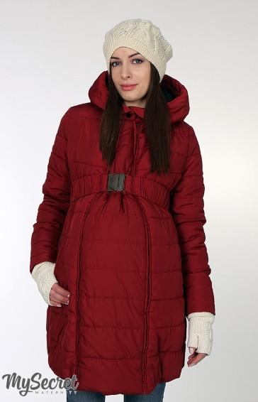 Зимнее пальто для беременных и кормящих Neva бордовое  продажа 7794e909f7f80