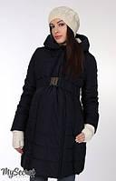 Зимнее пальтодля беременных и кормящих Neva синее