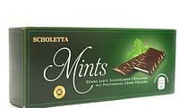 Шоколадные пластины с мятным пралине Scholetta Chocolate Mints,200 г