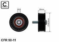 Ролик ремня компрессора кондиционера на Renault Master II 98->2010 2.5D + 2.8dTi — Caffaro (Польша) - CFR90-11
