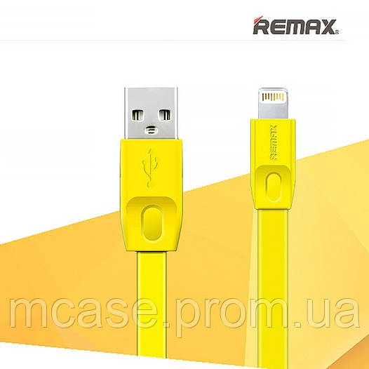 USB Кабель Lightning REMAX Full Speed Series для iPhone 5/5s/6/6s/7 Plus iPad/iPod 1 метр ЖЕЛТЫЙ