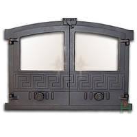 Дверка для хлебной печи со стеклом (60х43 см/51,5х37 см)