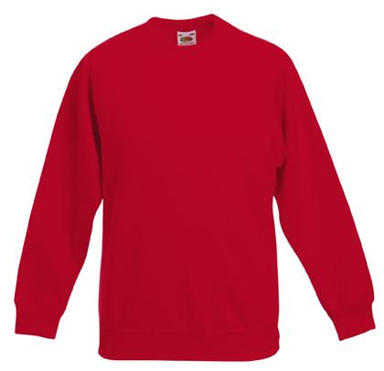 Толстовка детская Classic Kids Raglan Sweat, рост 128 (7-8лет), Красный