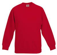 Толстовка детская Classic Kids Raglan Sweat, рост 140 (9-11лет), Красный