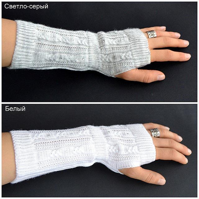 Детские перчатки без пальцев