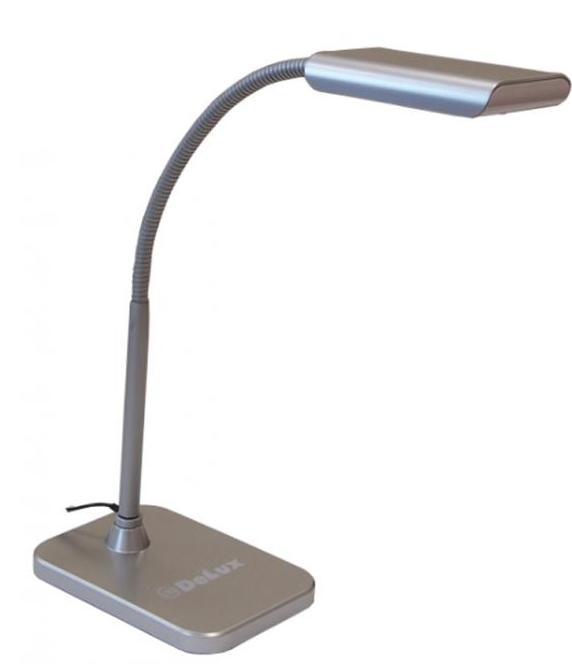 Настольная светодиодная лампа Delux TF-230 серая