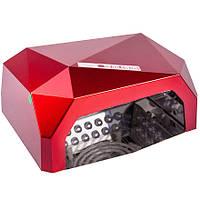 УФ LED+CCFL ГИБРИДНАЯ ЛАМПА ДЛЯ ГЕЛЬ-ЛАКОВ И ГЕЛЯ 36 W (красная)