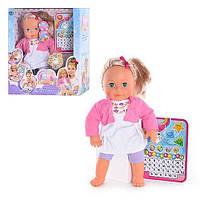 Интерактивная кукла Мила + обучающий планшет 5383, рост 40 см