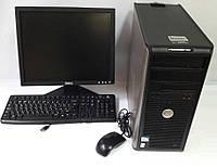 """Системный блок + 17"""" монитор +клавиатура и мышка+все кабеля!"""