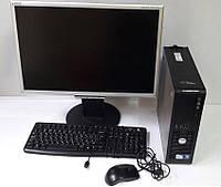 """Отличный полный рабочий комплект: системный блок + монитор 22"""" диагональ+ клавиатура и мышка!"""