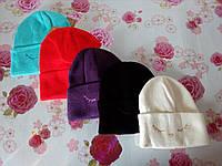 """Детская зимняя шапка двойная   """"Улыбка"""" на девочку. Разные цвета. Оптом., фото 1"""