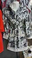 Женский велюровый утепленный халат высочейшего качества с капюшоном в ассортименте