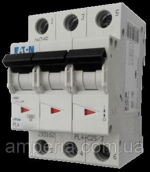 Eaton/Moeller 4kA PL4-C10/3 10А, 3-полюсный автоматический выключатель, фото 2
