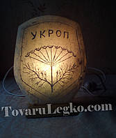 Солевая лампа - Укроп (3 - 4 кг)
