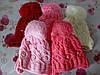"""Детская зимняя шапка на флисе  """"Косичка"""" на девочку. Разные цвета. Оптом."""