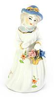 Статуэтка из фарфора Девушка с цветами