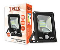 Светодиодный прожектор c датчиком движения Tecro TL-FL-20B-PR