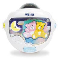 Ночной светильник Weina Двойняшки Тедди с проектором (2129)